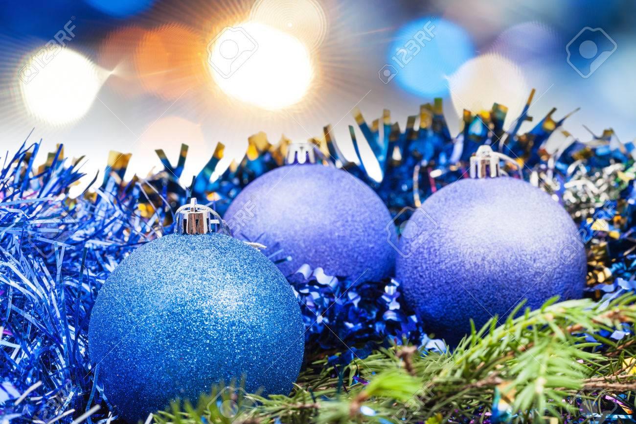Blaue Weihnachtsbeleuchtung.Stock Photo