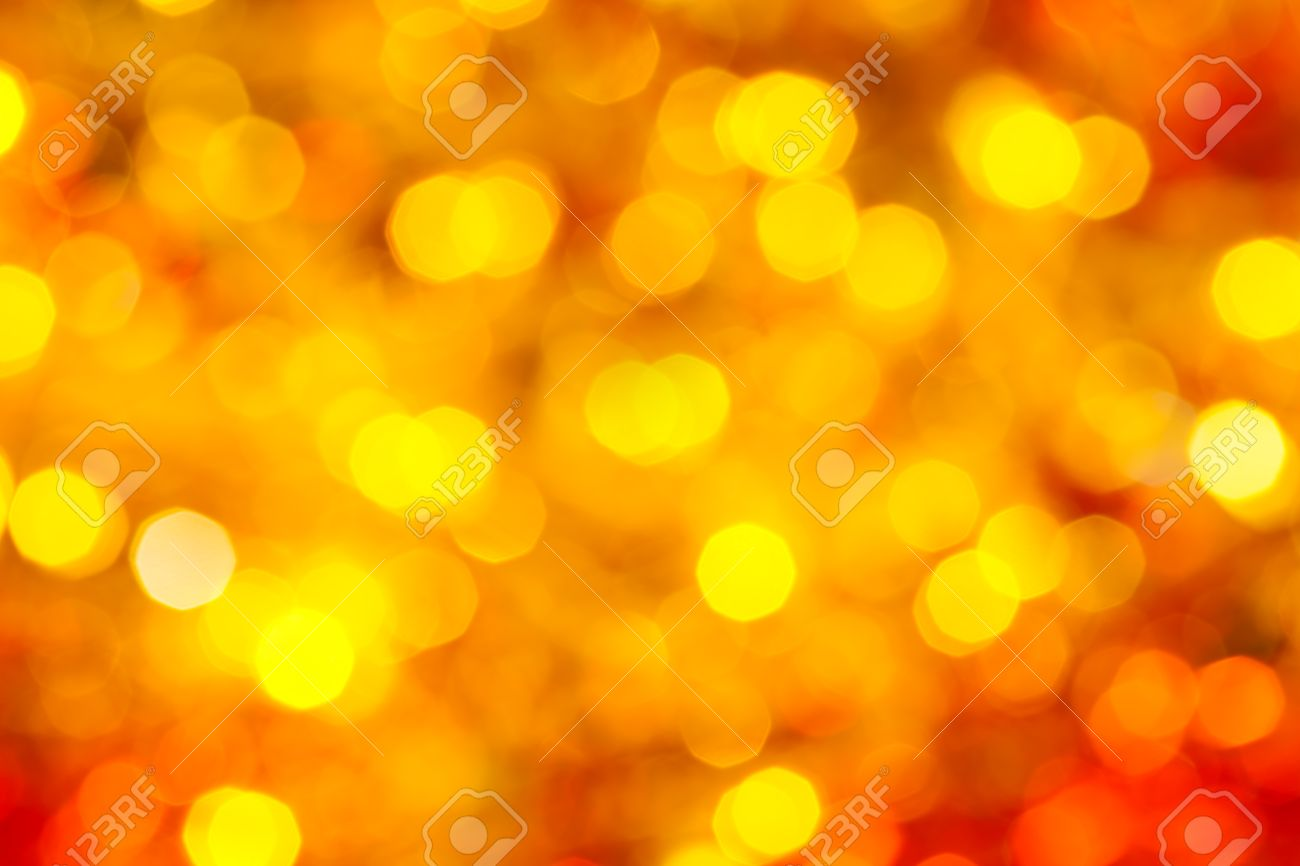 abstract blurred background - yellow and red flickering Xmas lights bokeh of garlands on Christmas tree - 47444473