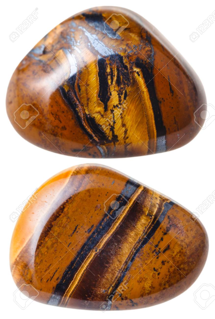 natural mineral gem stone two tiger s eye tigers eye tiger