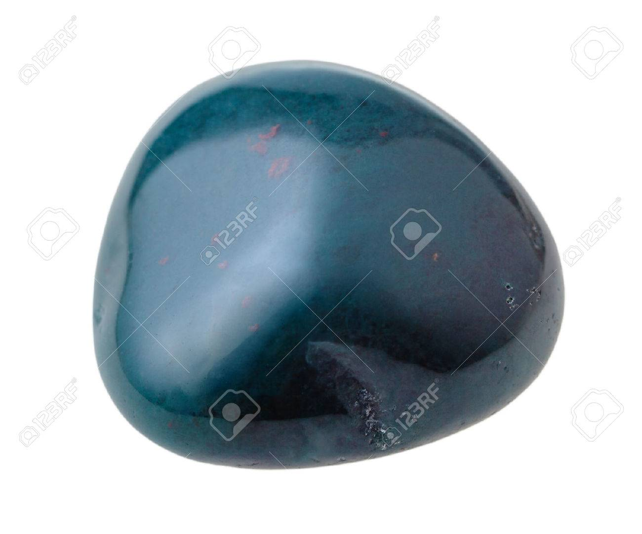natural mineral gemstone - one heliotrope (bloodstone) gem stone