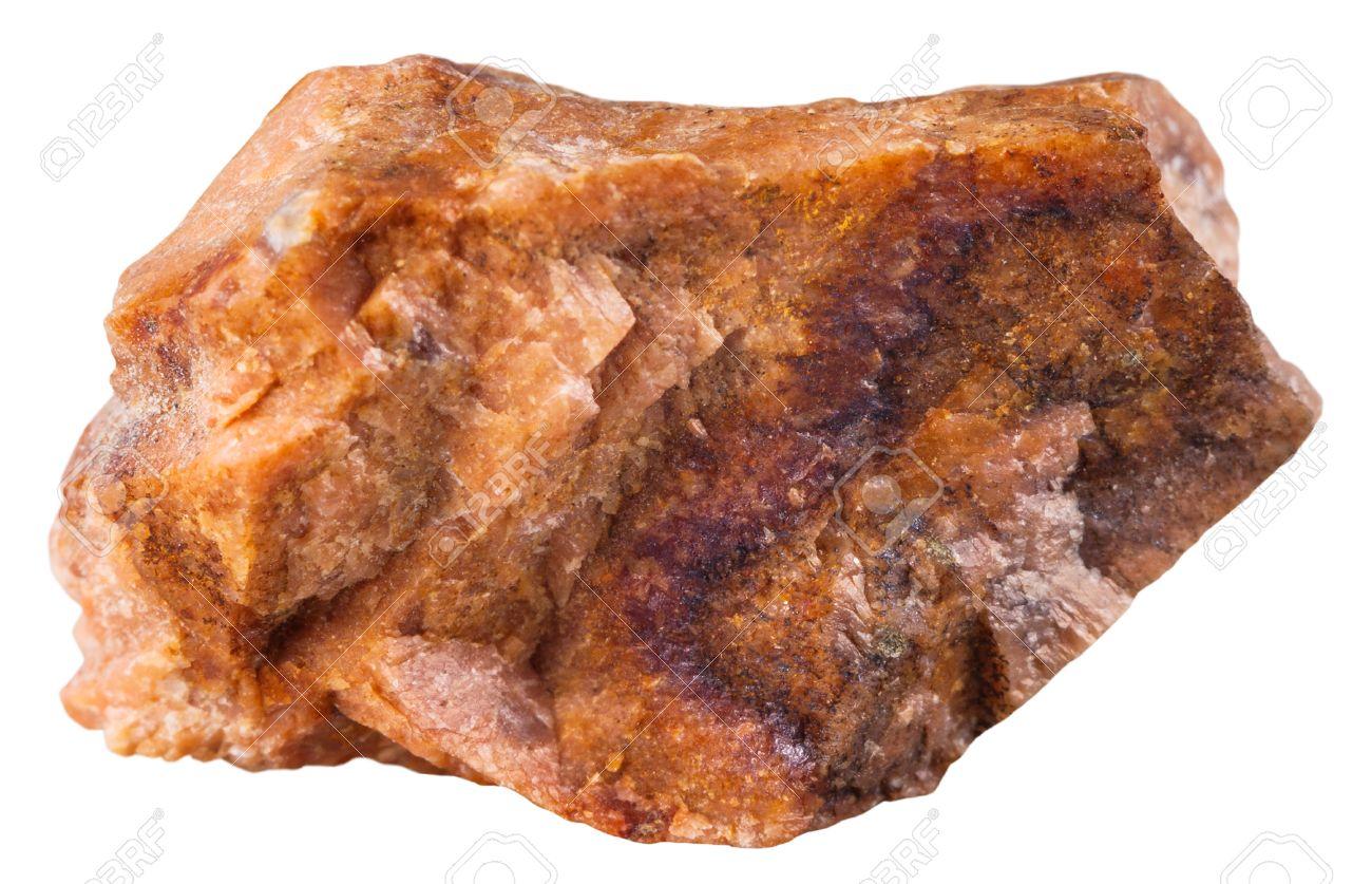 白い背景の分離標本自然の岩 - ...