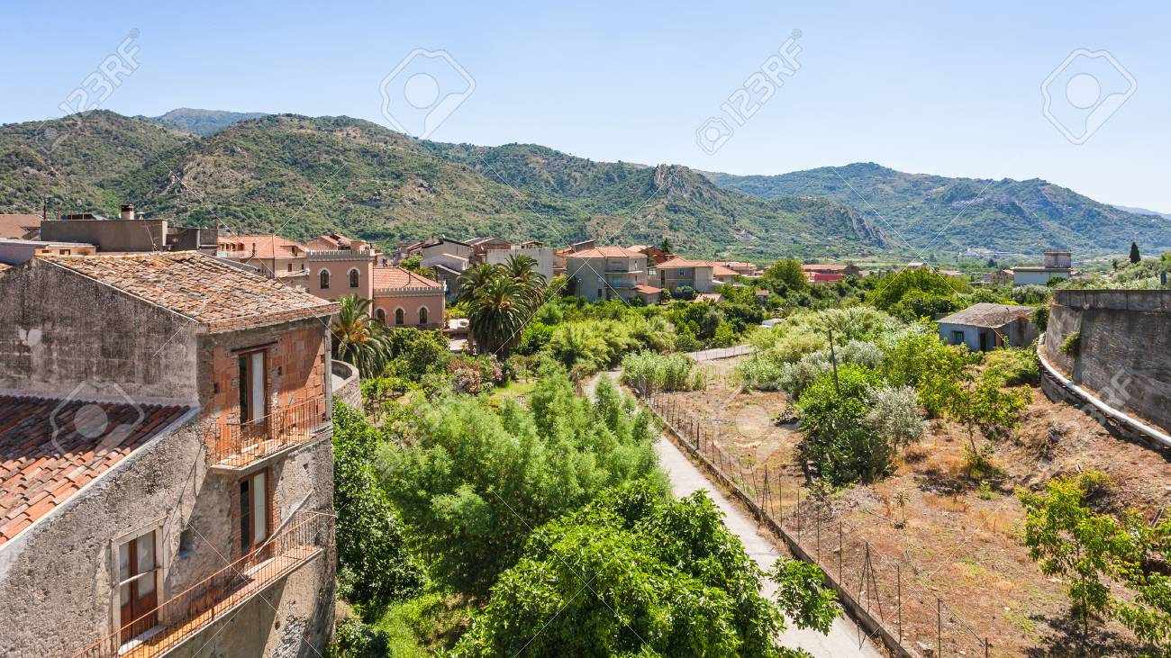 Italy Residential Houses In Francavilla Di Sicilia Town In Stock Photo Picture And Royalty Free Image Image 74296171