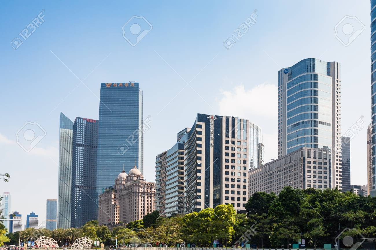 GUANGZHOU, CHINA - APRIL 1, 2017: new buildings in Zhujiang New