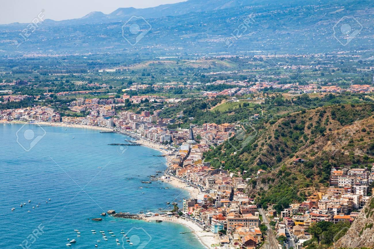 Spiaggia di giardini naxos taormina provincia di messina