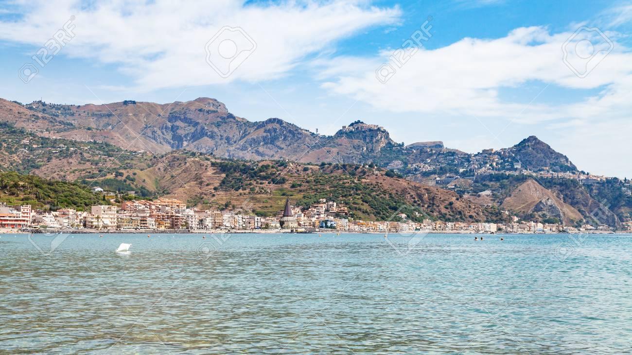 Viaggio in sicilia italia vista panoramica della città di