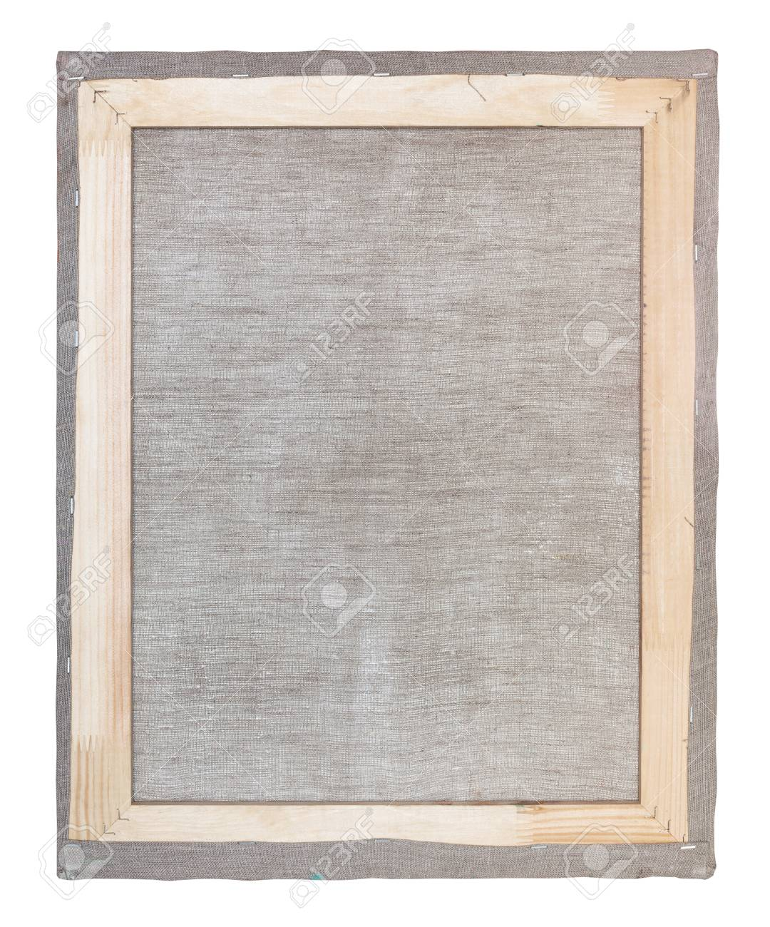 Reverse Side Of Wooden Frame With Stretched Canvas Isolated On ...