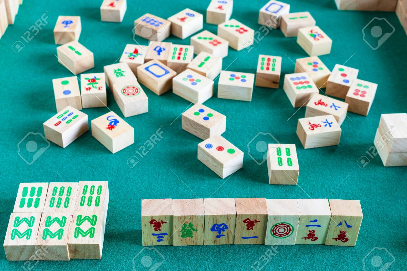 Gameplay Of Mahjong Game Tile Based Chinese Strategy Board Game