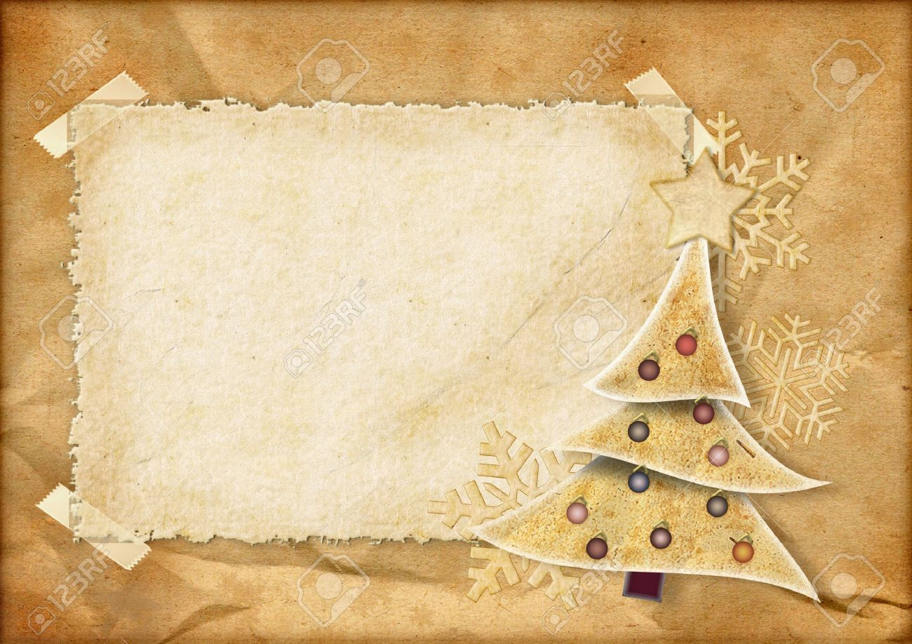 Vintage Christmas Card Stock Photo, Picture And Royalty Free Image ...