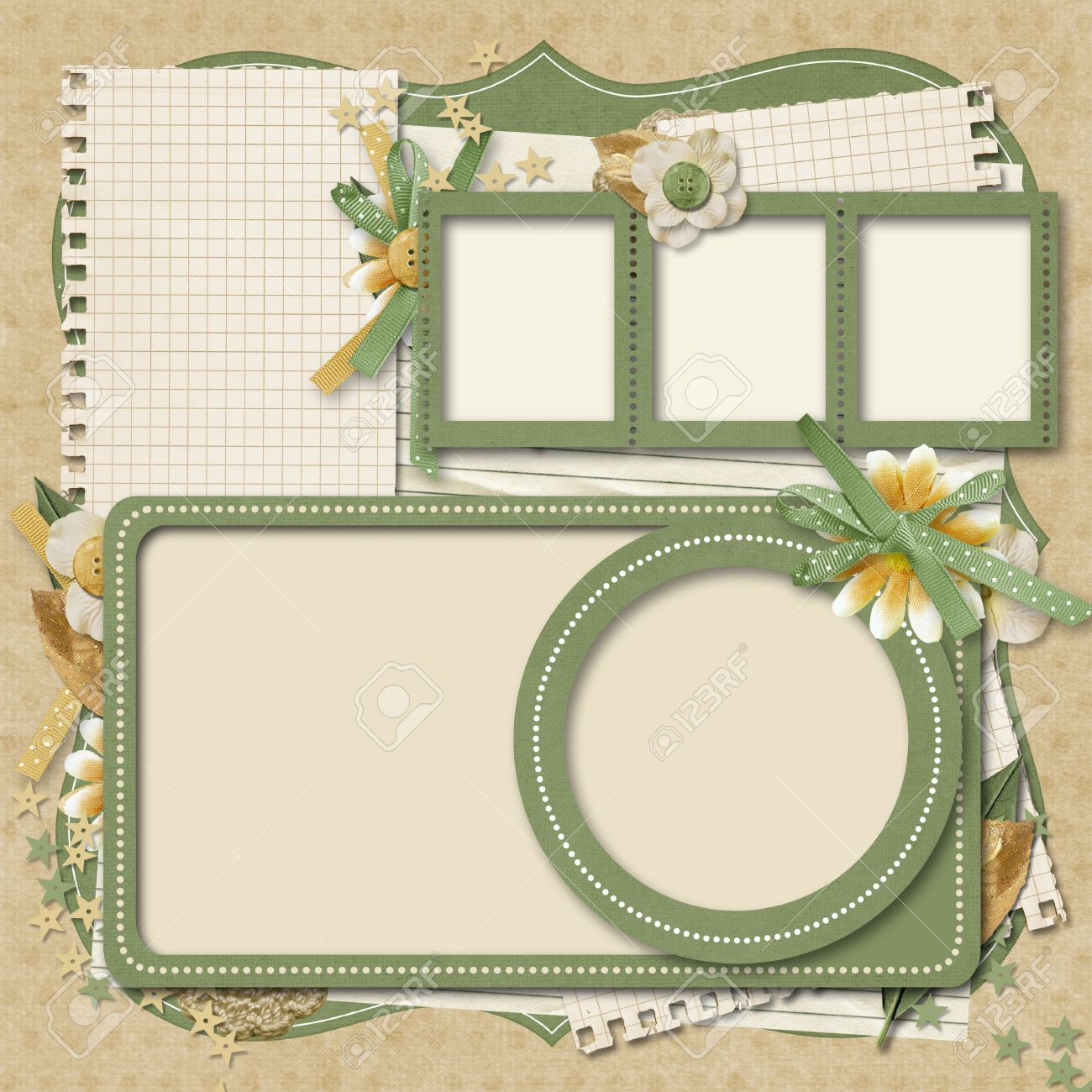 Retro Family Album 365 Project Scrapbooking Templates Photo – Photo Album Templates Free