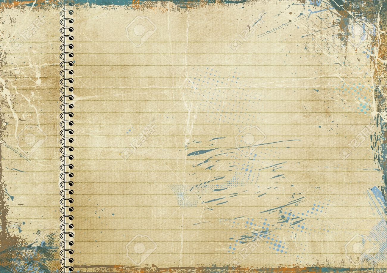 vintage lined paper stock photo, picture and royalty free image