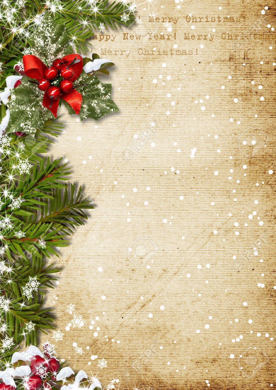 Vintage Christmas Background Stock Photo, Picture And Royalty Free ...