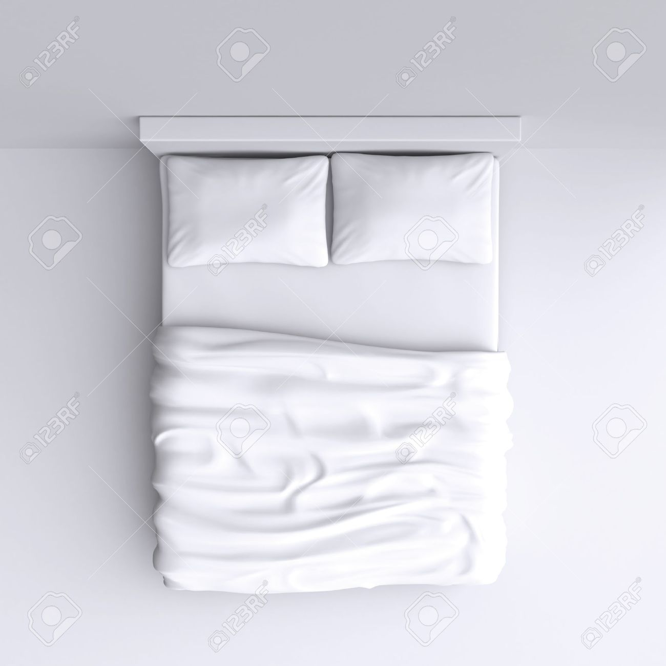 Bed top view Bed Texture Bed With Pillows And Blanket In The Corner Room 3d Illustration Top View Bamboo Sheets Australia Bed With Pillows And Blanket In The Corner Room 3d Illustration