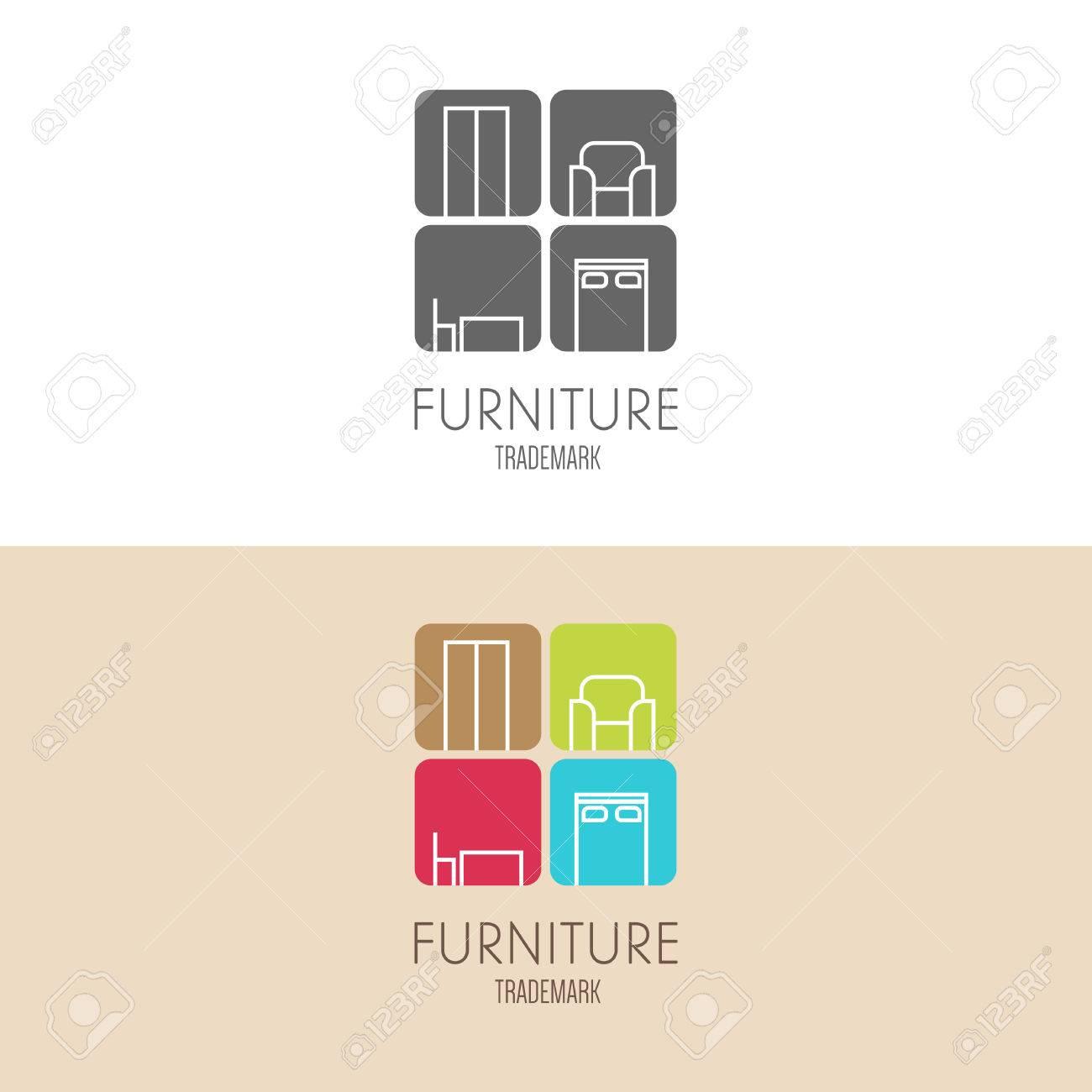 Furniture logo inspiration - Vector Label Inspiration With Furniture