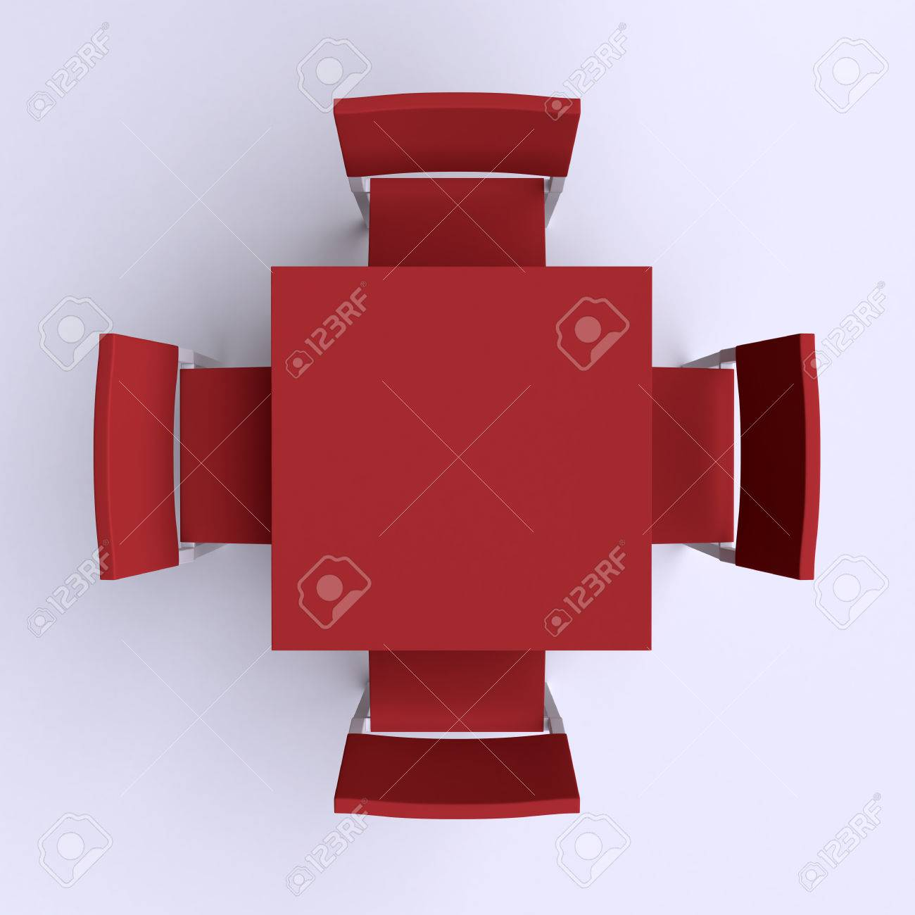 Table and chairs top view - Square Table With Four Chairs Top View 3d Illustration Stock Illustration 41087373