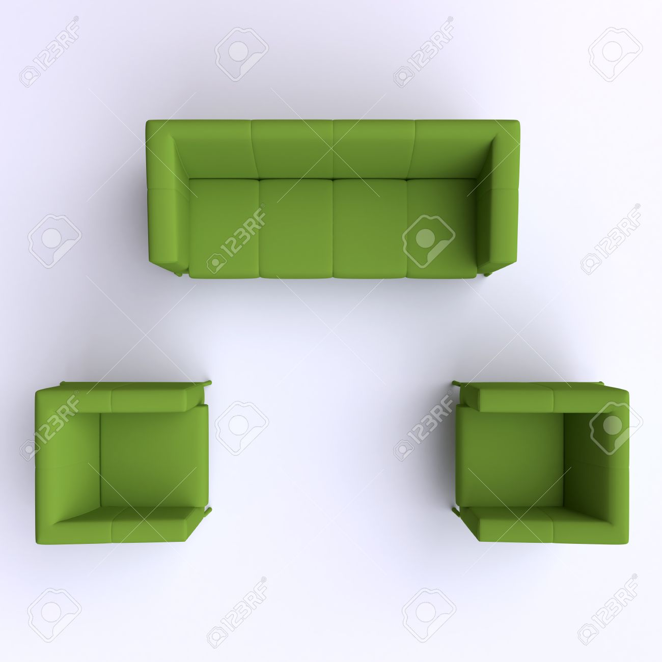 Sofa And Two Chairs Top View Stock Photo Picture And Royalty Free
