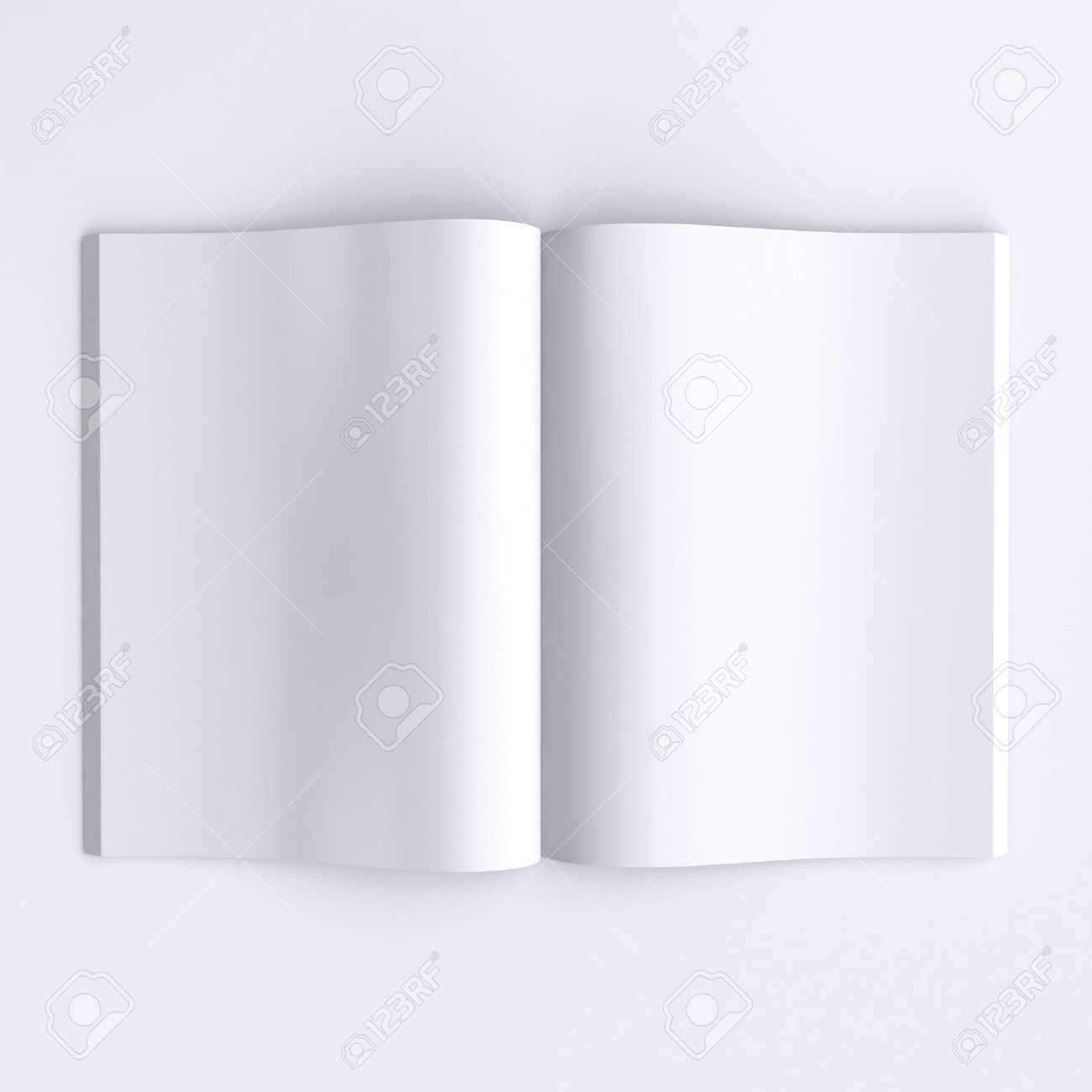 Template Blank Pages Of An Open Journal, Newspapers Or Books ...