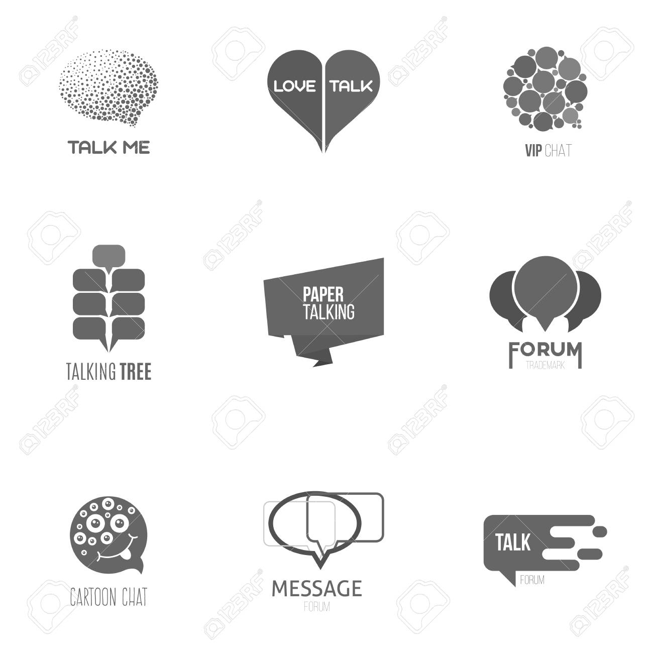 Logo inspiration for shops, companies, advertising or other business