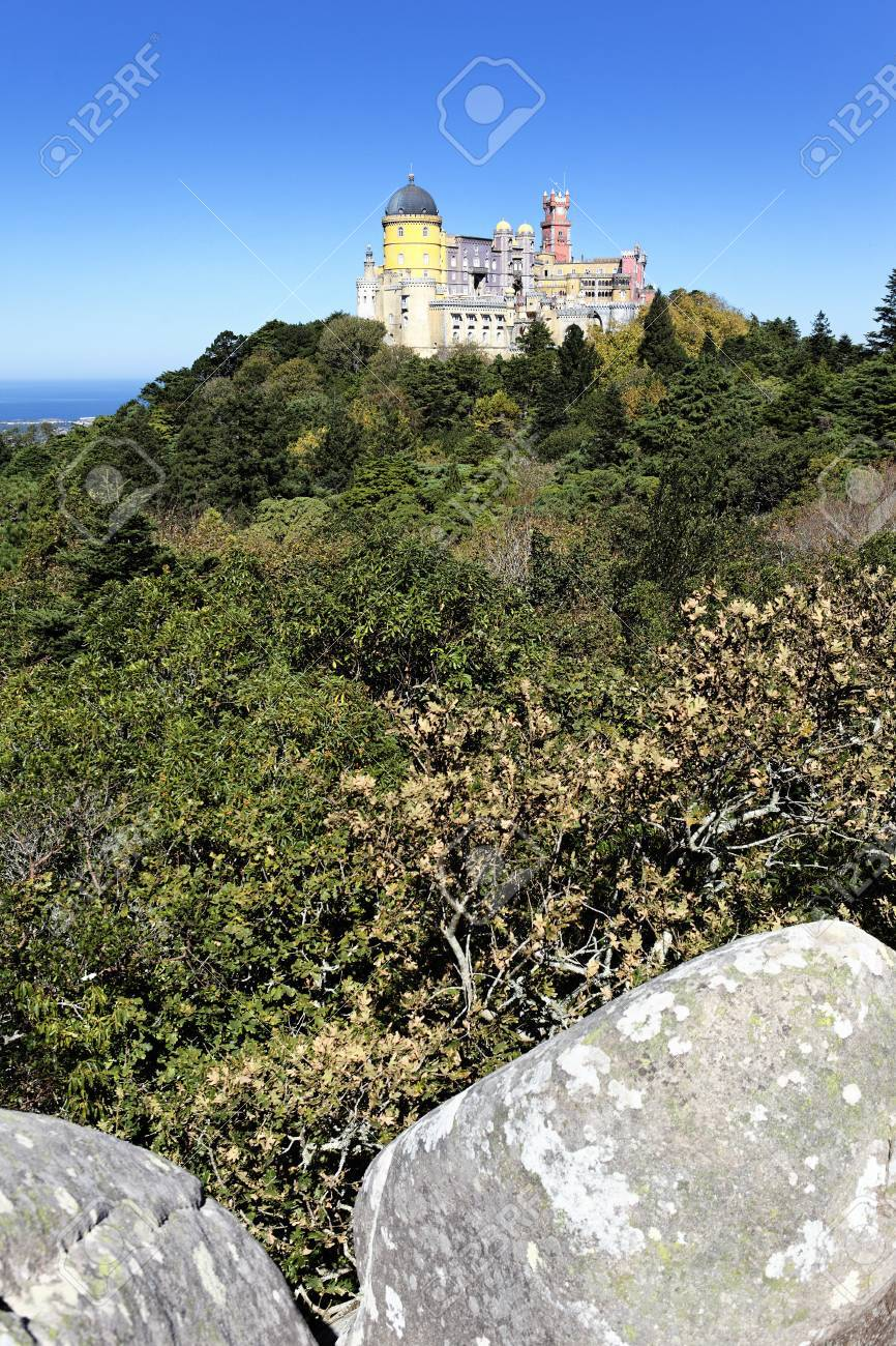 vertical view of Pena castle in sintra, Portugal Stock Photo - 14558120