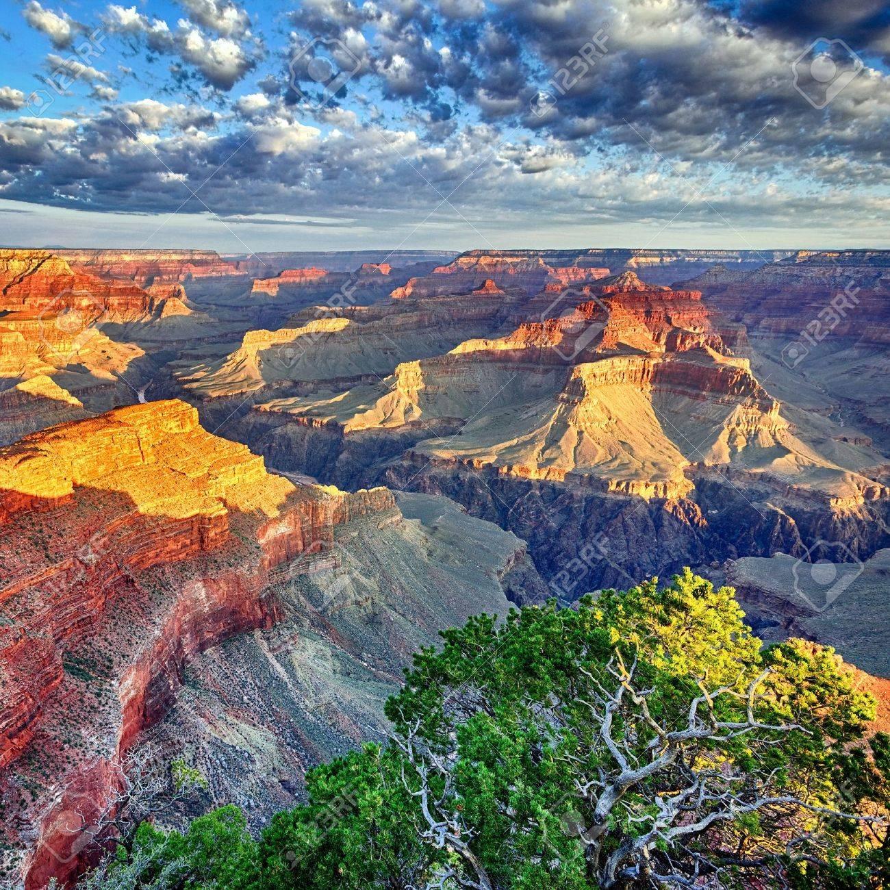 morning light at Grand Canyon, Arizona, USA - 17354206
