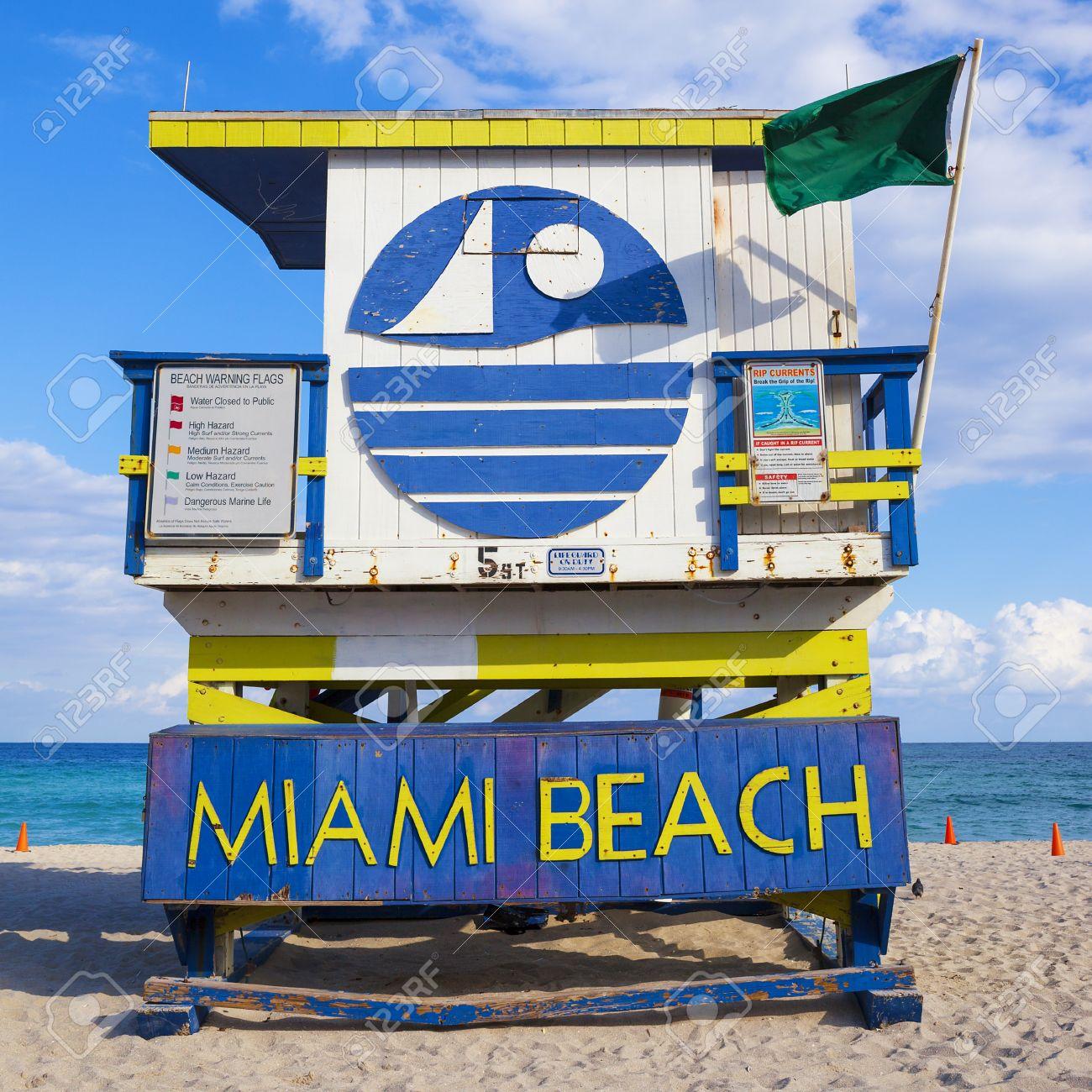 Miami Beach Florida, famous lifeguard house