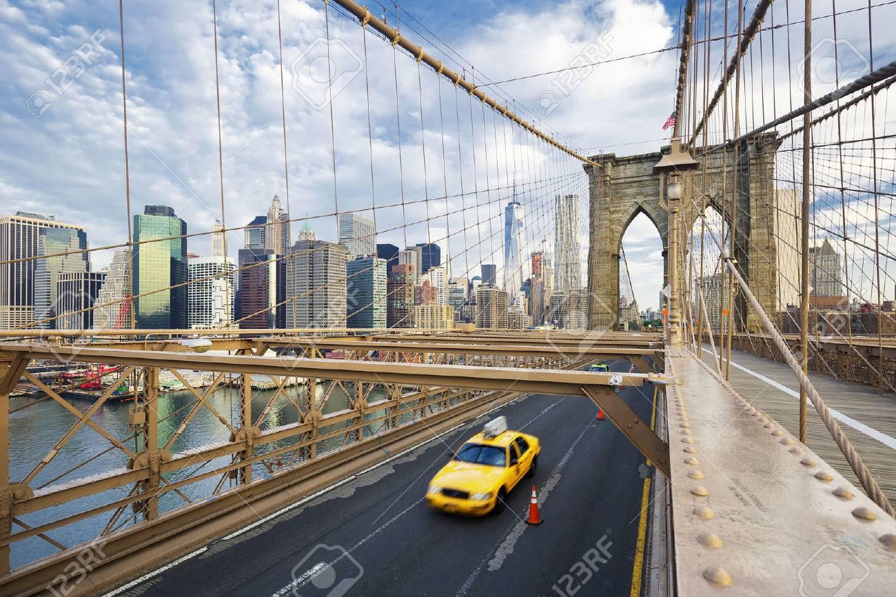 Brooklyn Bridge in New York City. - 43792272