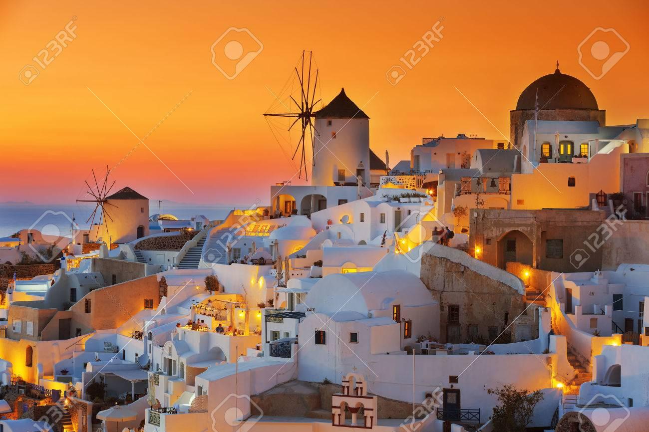 Oia at sunset, Santorini - 60622217