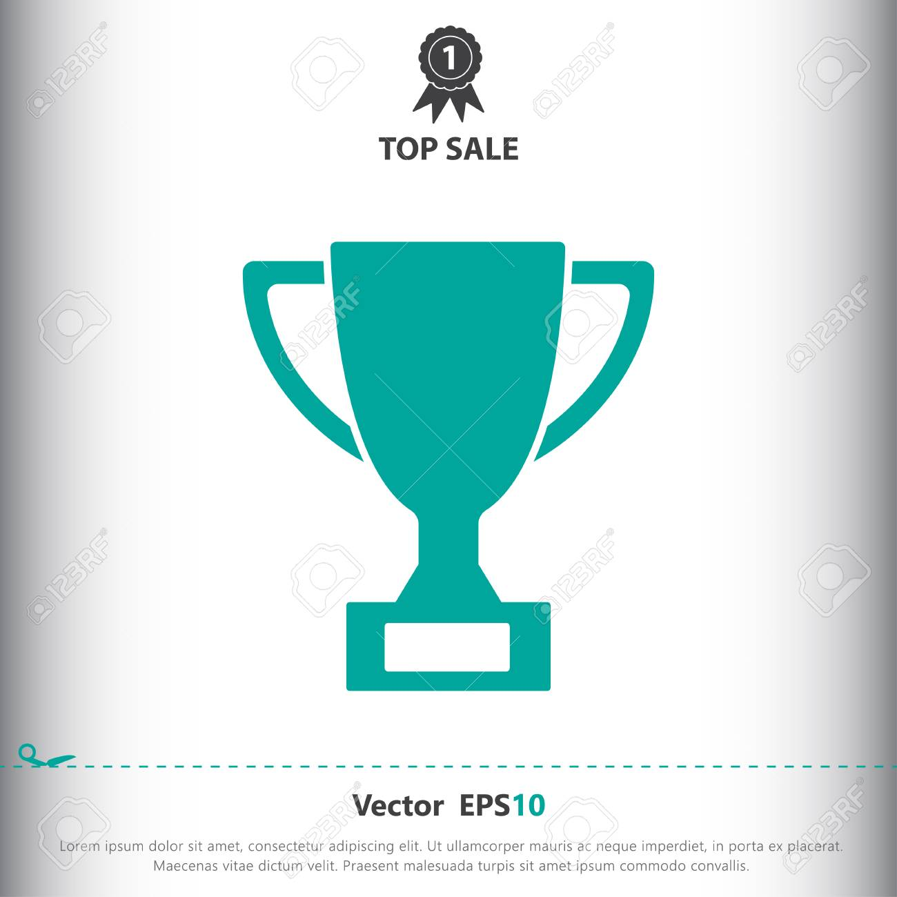 Trophy Sign Icon Vector Illustration Trophy Symbol Flat Icon