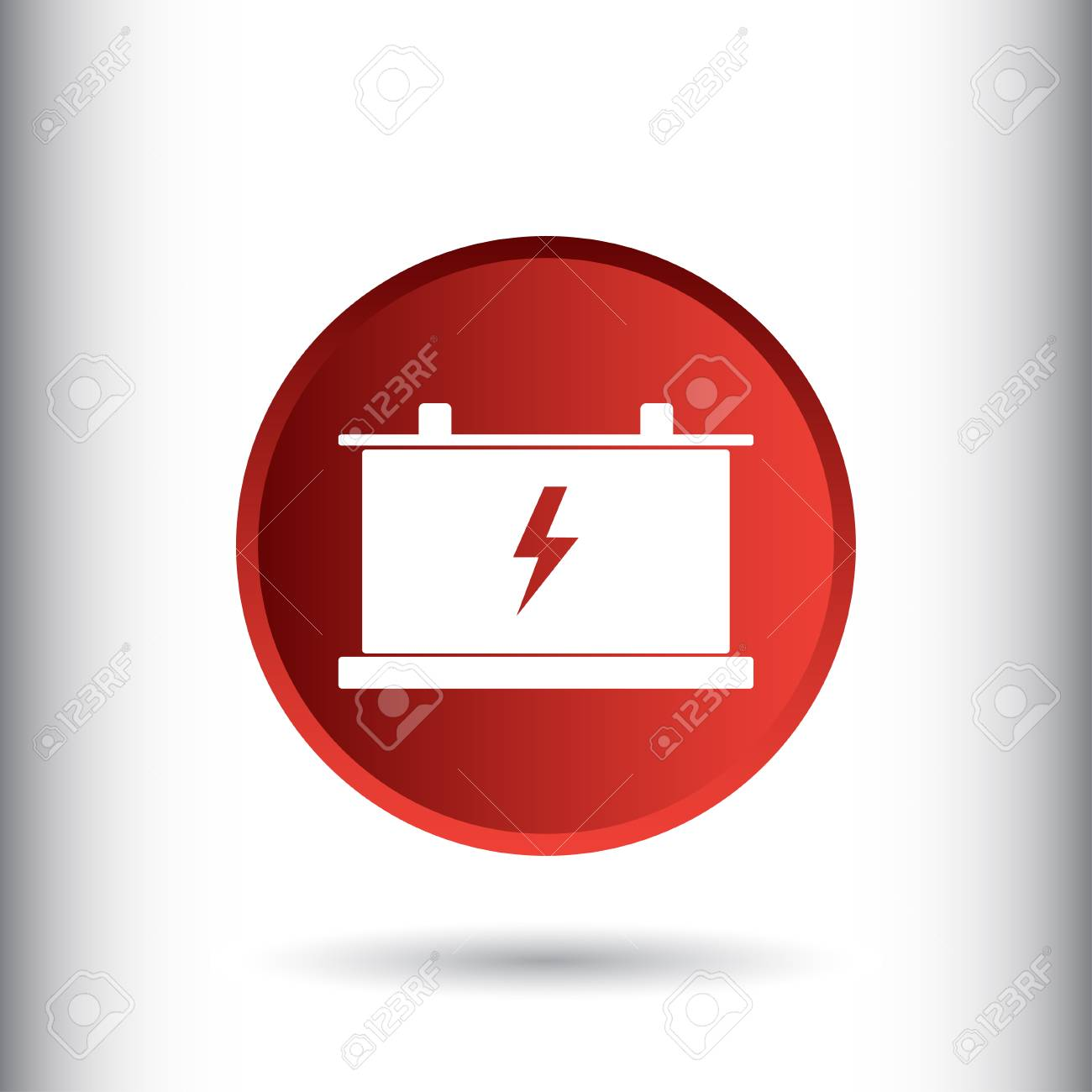 Battery Sign Icon Vector Illustration Car Battery Symbol Flat
