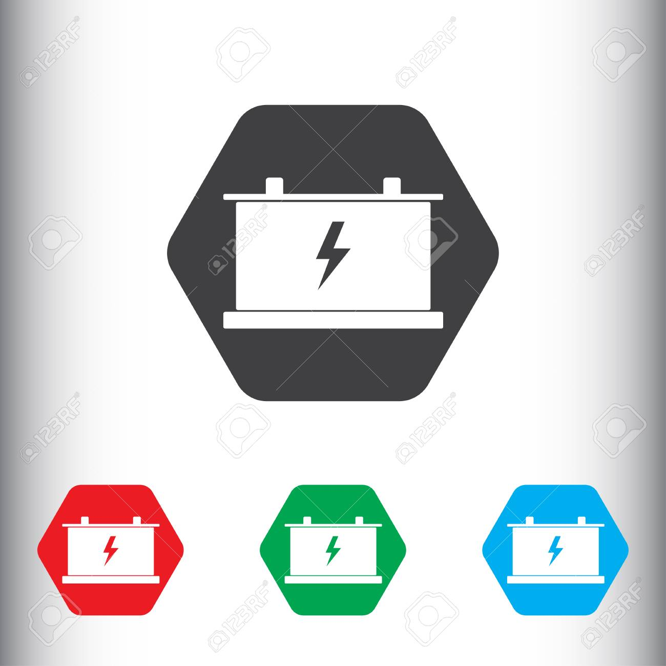 Battery Sign Icon, Vector Illustration. Car Battery Symbol. Flat ... for Car Battery Symbol  131fsj