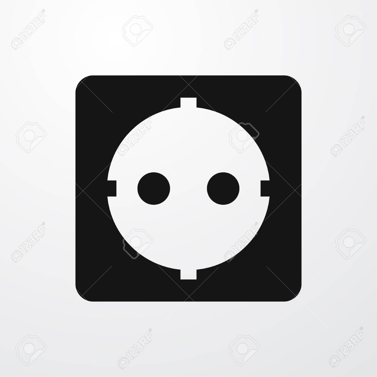 Power Socket Icon Illustration Isolated Vector Sign Symbol Royalty