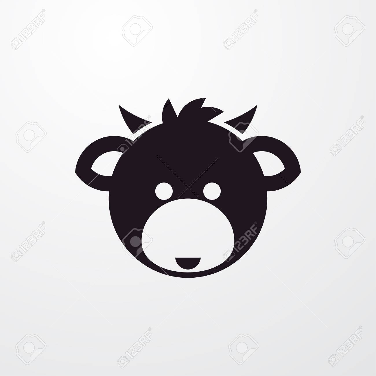 Cow Head Icon Illustration Isolated Vector Sign Symbol Royalty Free
