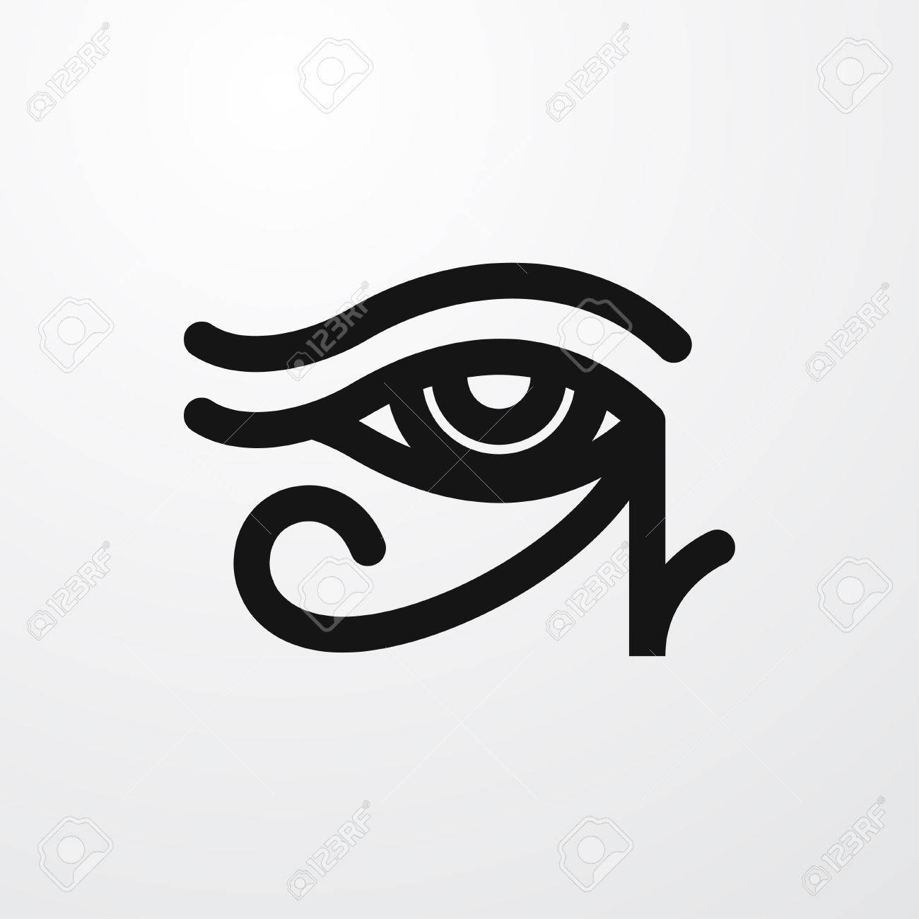 Egypt eye icon illustration isolated sign symbol royalty free egypt eye icon illustration isolated sign symbol stock vector 65360975 biocorpaavc Gallery
