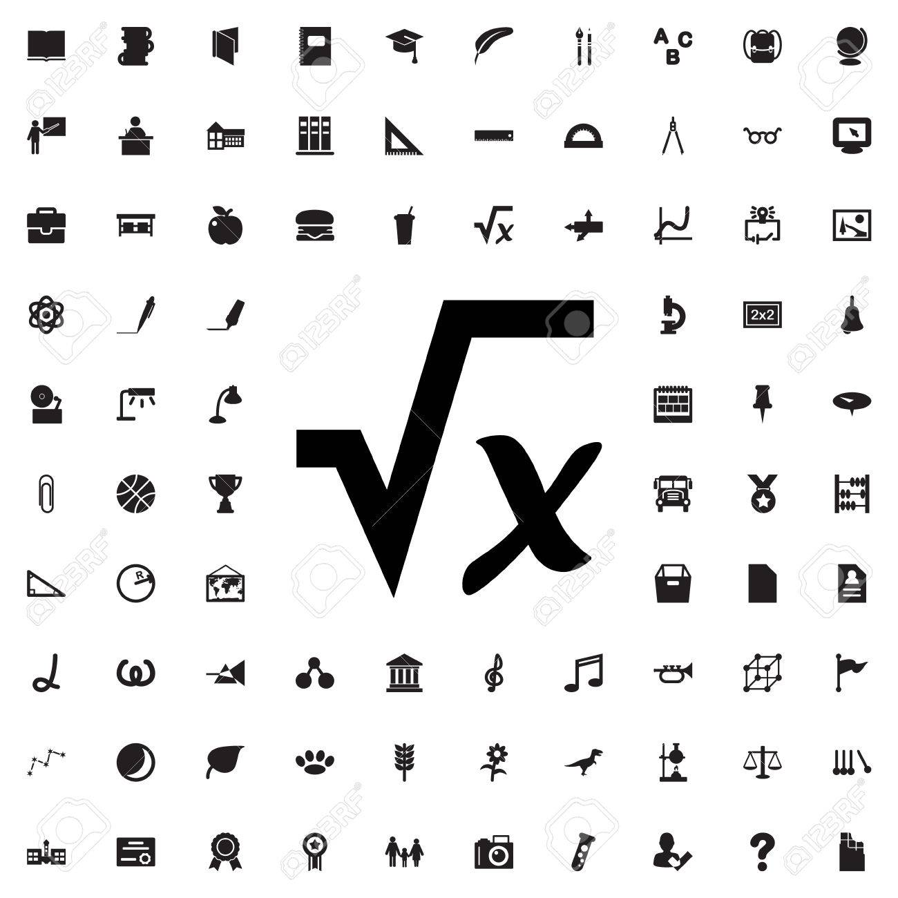 Square root icon illustration isolated vector sign symbol royalty square root icon illustration isolated vector sign symbol stock vector 68041247 buycottarizona Images