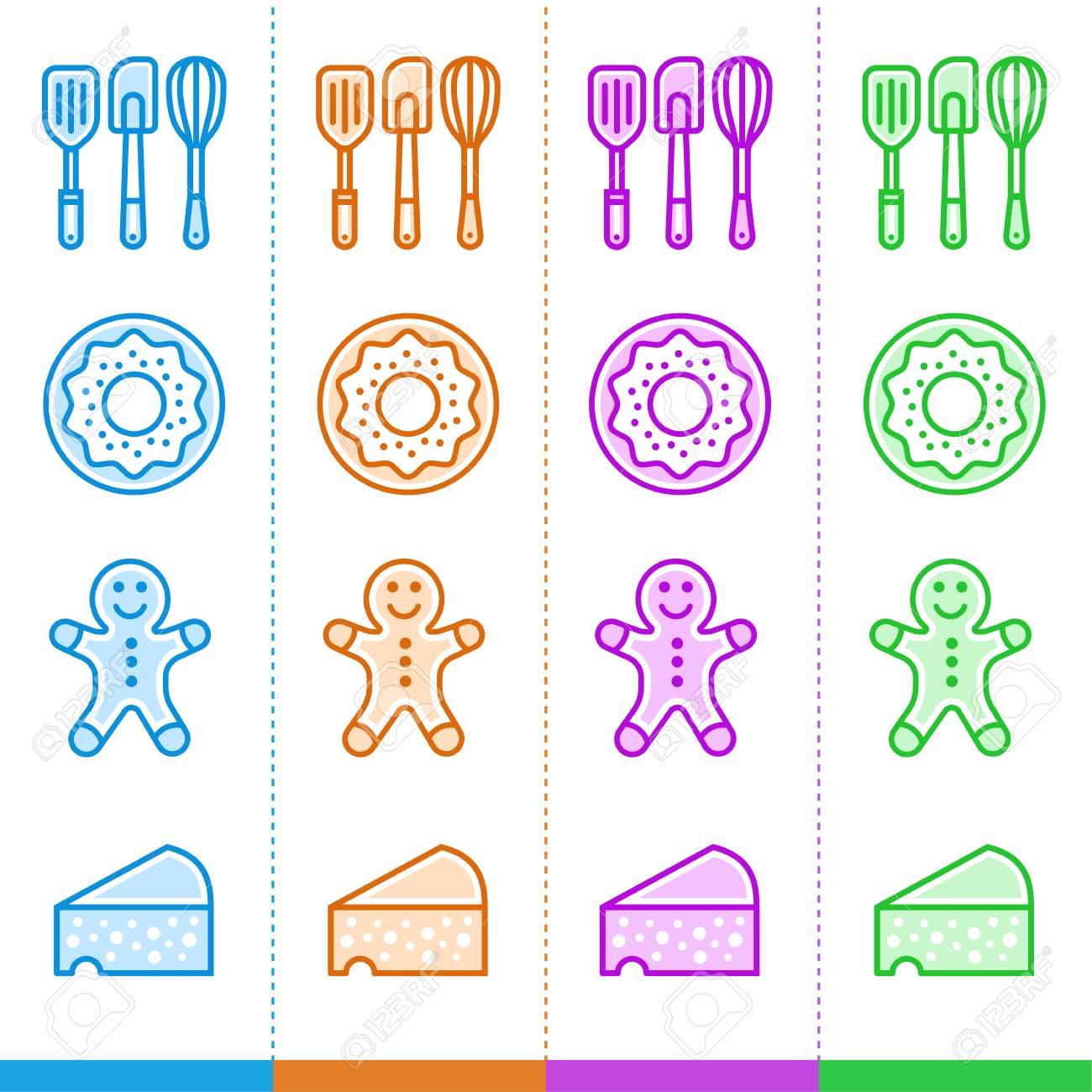 8c6dc5b3126ad Foto de archivo - Vector conjunto de iconos lineales