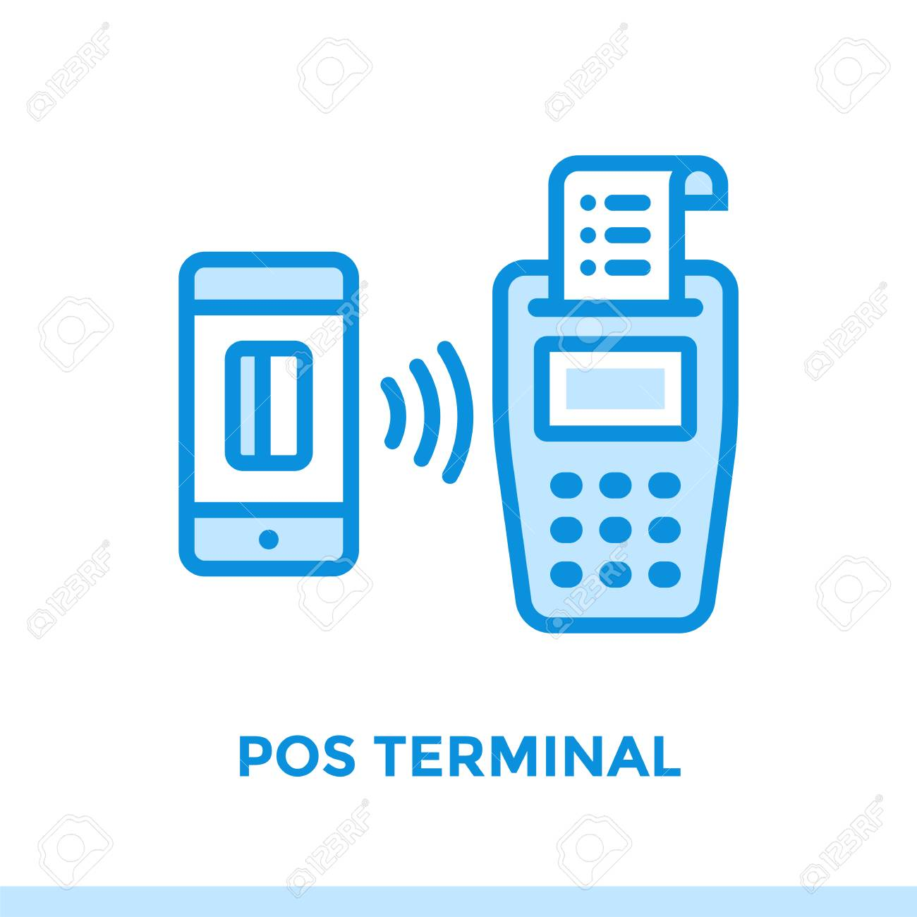Linear Icon POS TERMINAL Of Finance, Banking. Suitable For Mobile ...