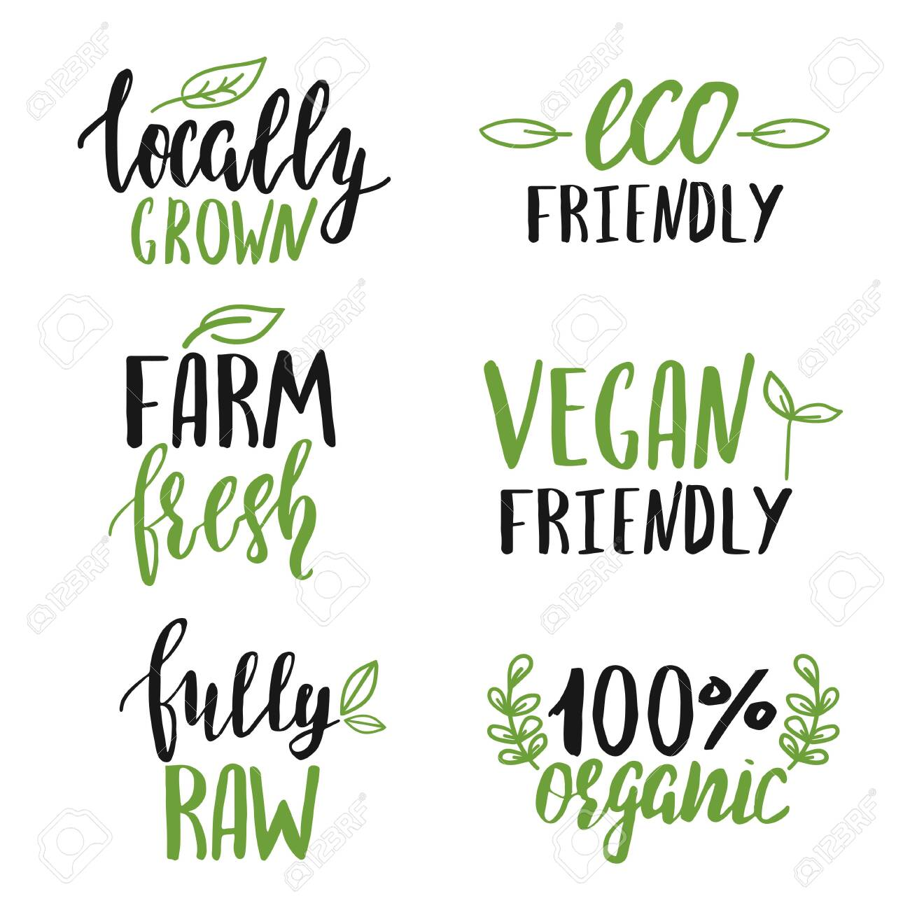 Set of hand lettered food signs - 136014805