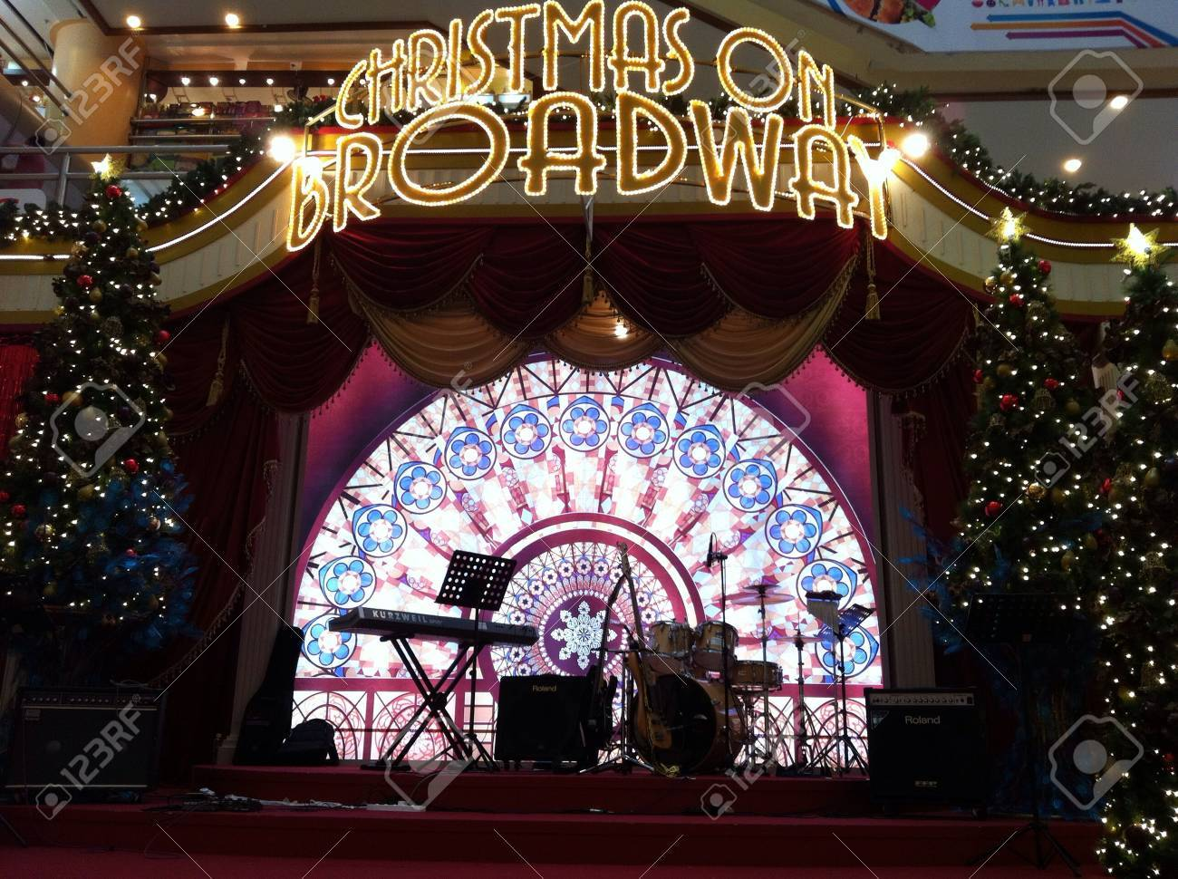 Christmas On Broadway Stock Photo, Picture And Royalty Free Image ...