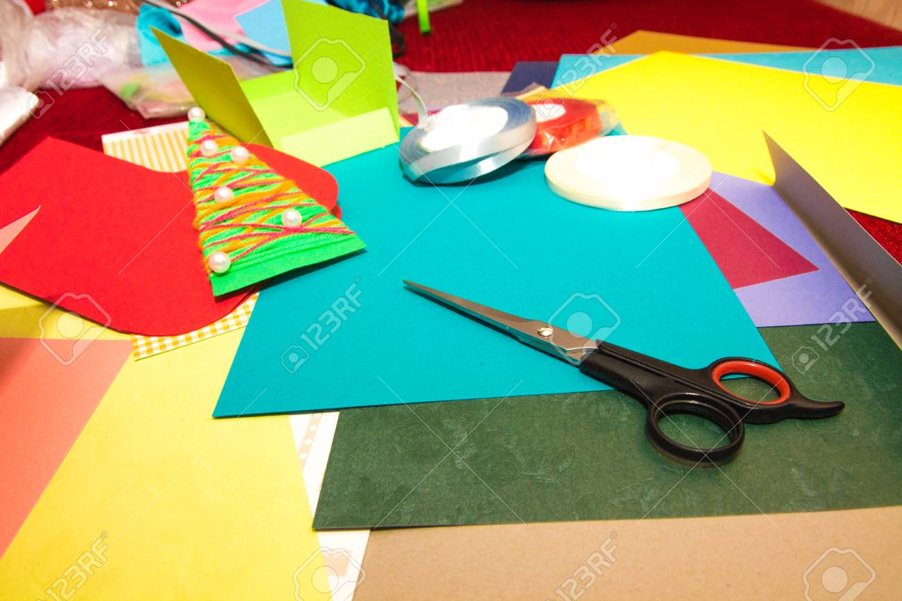 A set of tools and board for making greeting cards for new year a set of tools and board for making greeting cards for new year christmas and m4hsunfo