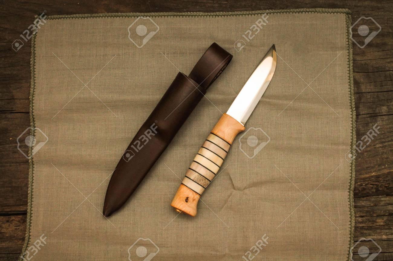 Swedish Knife With Leather Sheath Knife Swedish Hunting Knife Stock Photo Picture And Royalty Free Image Image 79153606