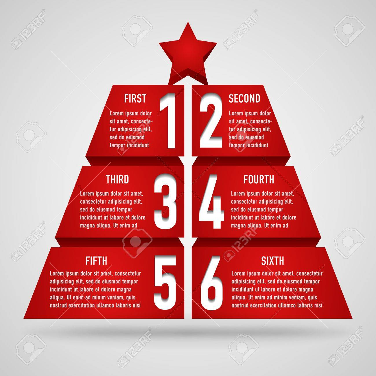 3d origami christmas tree with numbers and place for your text Stock Vector - 16711663