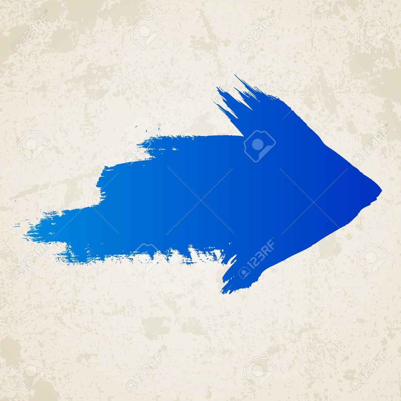 Blue grunge arrow Stock Vector - 16989525