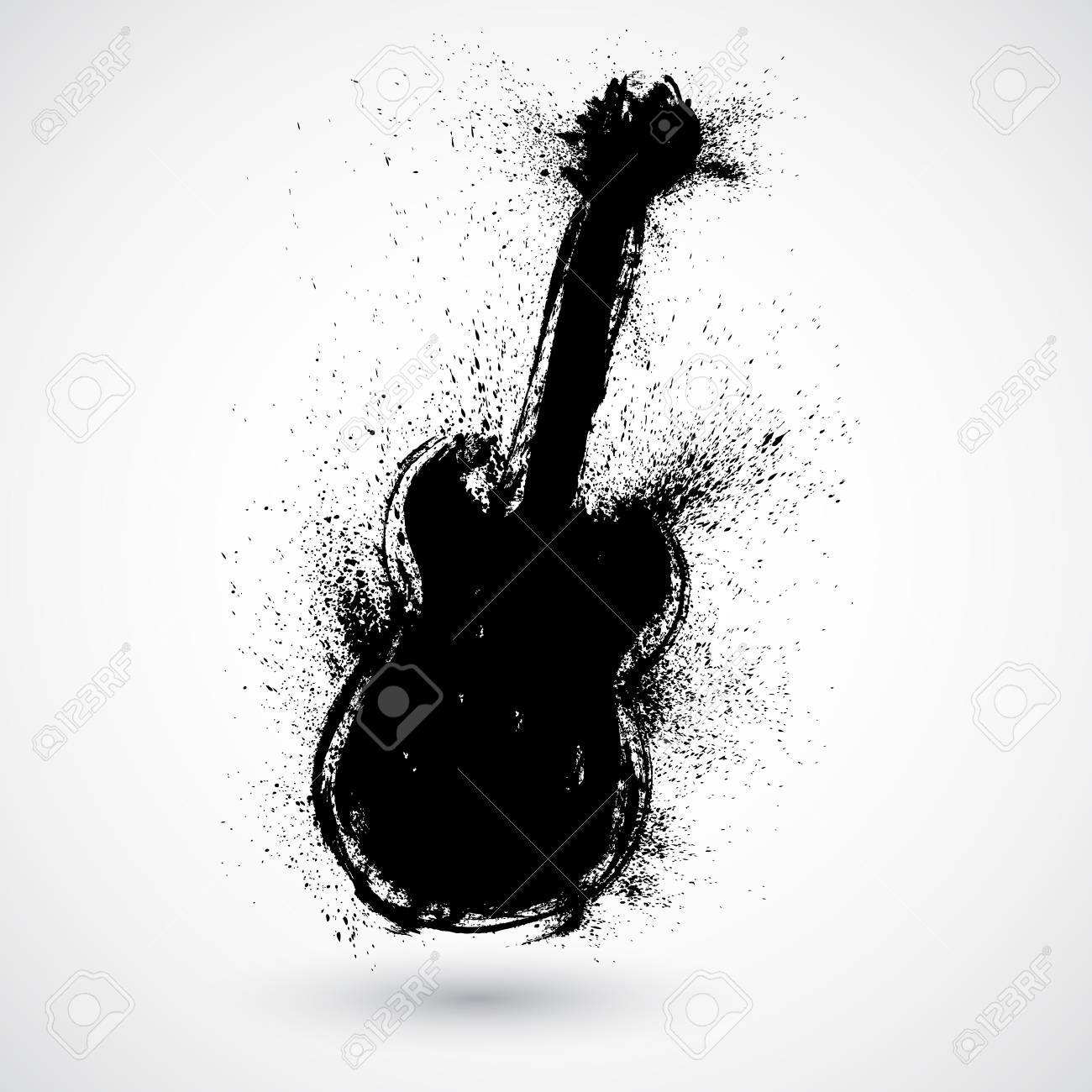 Grunge styled guitar Stock Vector - 17031733
