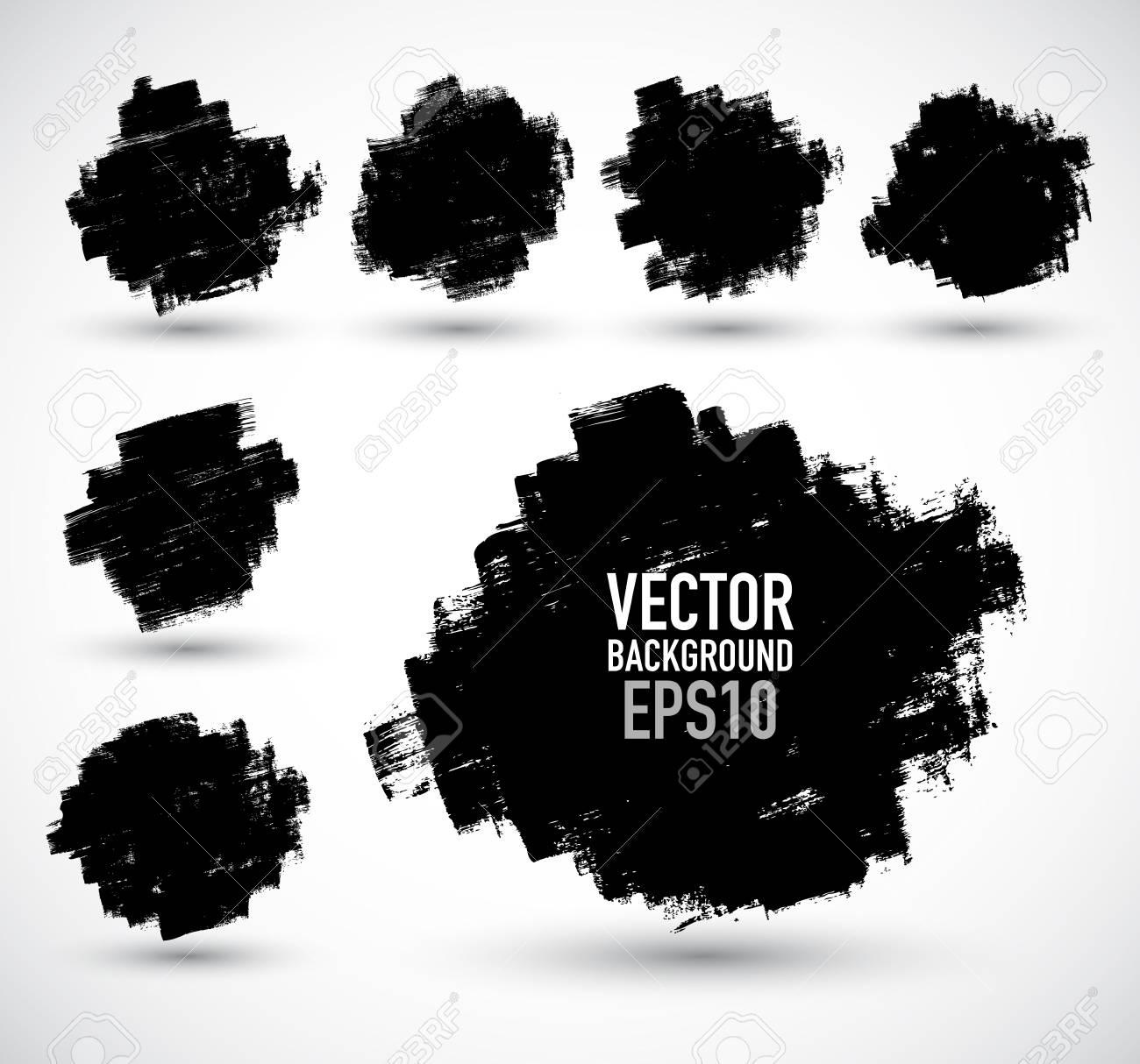 Set of grunge brush strokes Stock Vector - 18079293