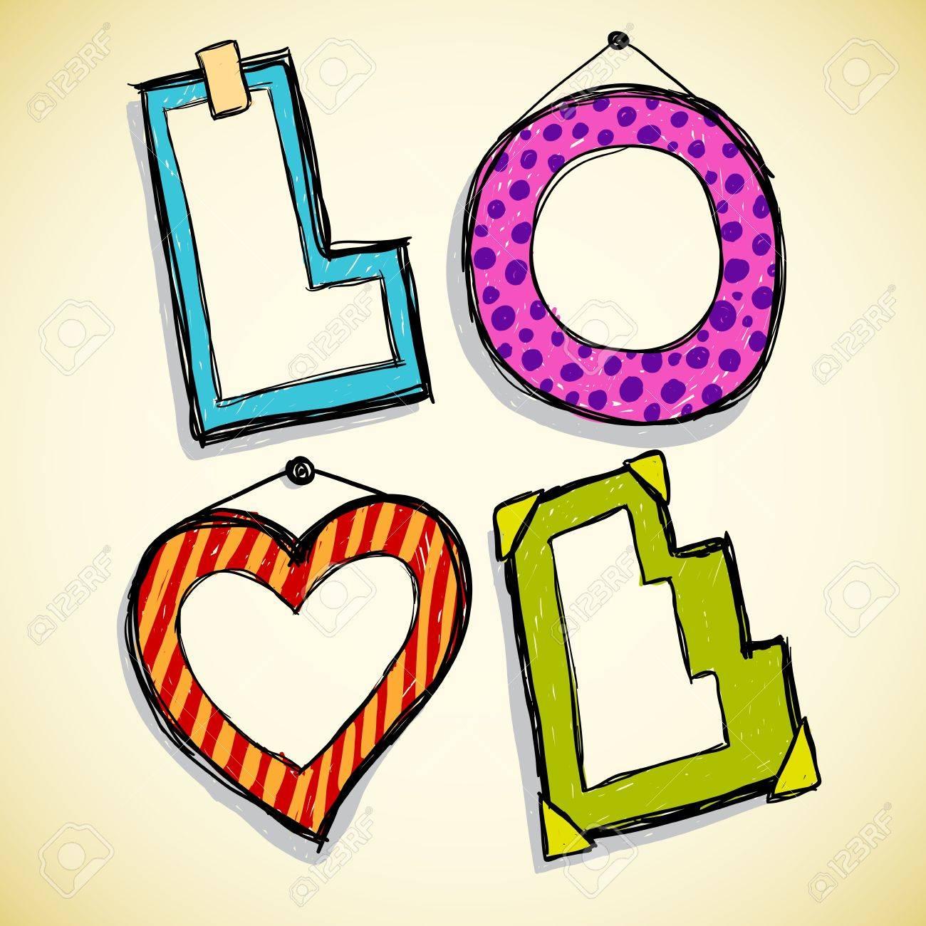 Love frames Stock Vector - 18079278