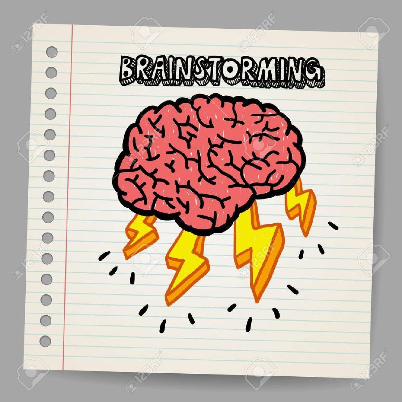 Doodle Brain Storm - 18216836