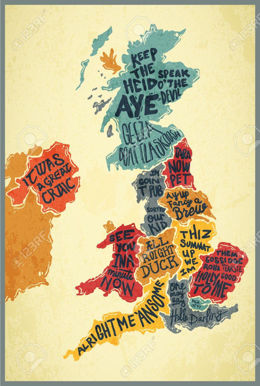 United Kingdom typography accents map on australia illustration, london illustration, singapore illustration, tv illustration, chile illustration, italy illustration, thailand illustration, africa illustration, china illustration, dj illustration,