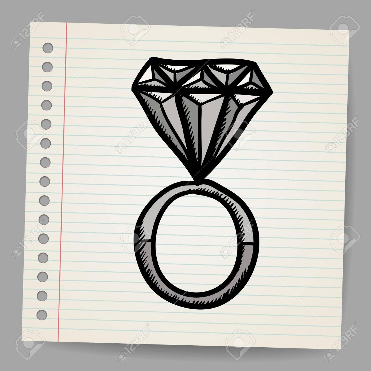 Doodle style diamond illustration Stock Vector - 18791138