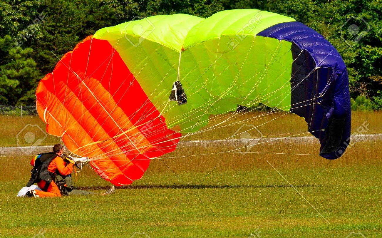 parachute canopy Stock Photo - 5703754 & Parachute Canopy Stock Photo Picture And Royalty Free Image ...