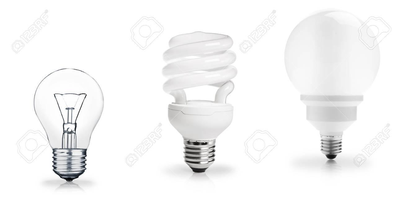 Three generations of light bulbs Stock Photo - 17651251