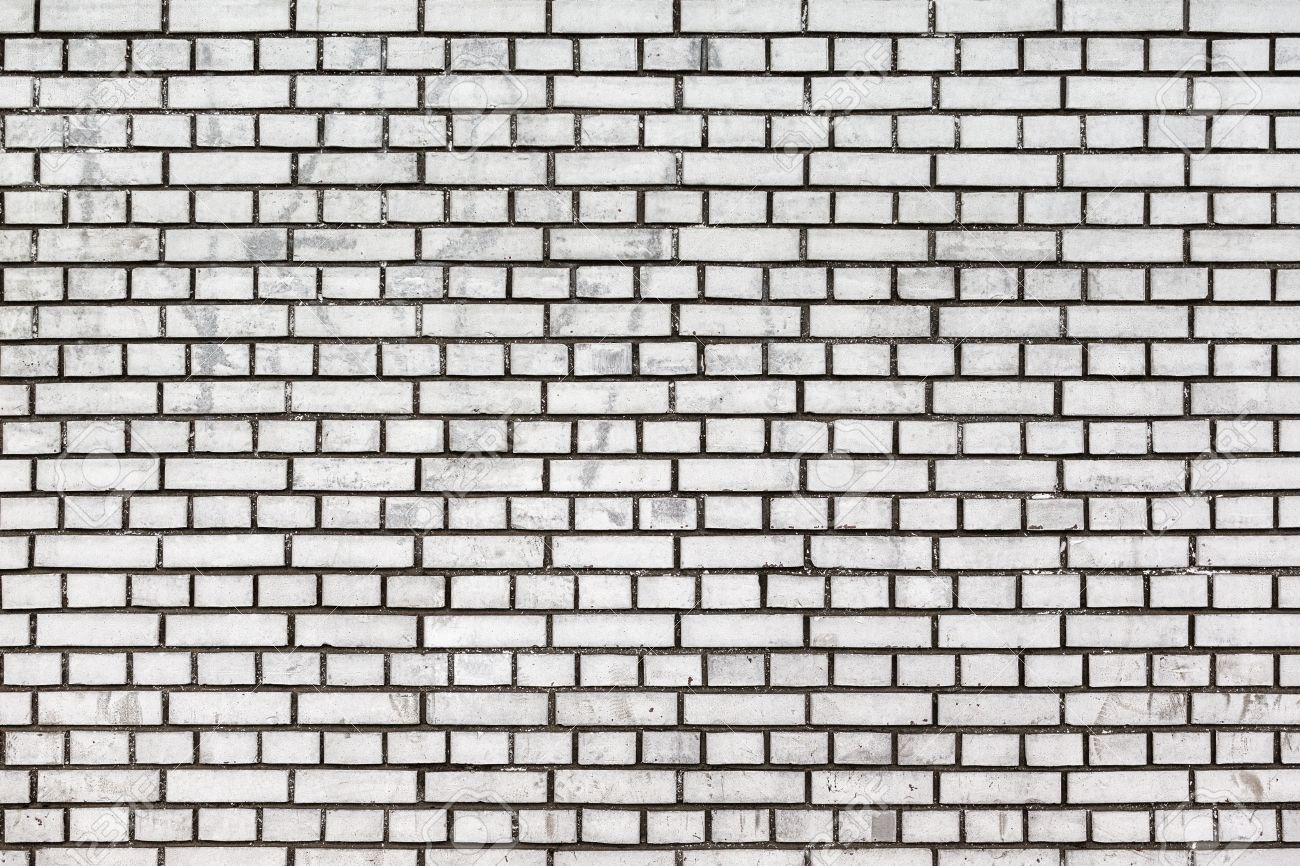 White Brick Wall With Black Grout Stock Photo Picture And Royalty Free Image Image 30545328